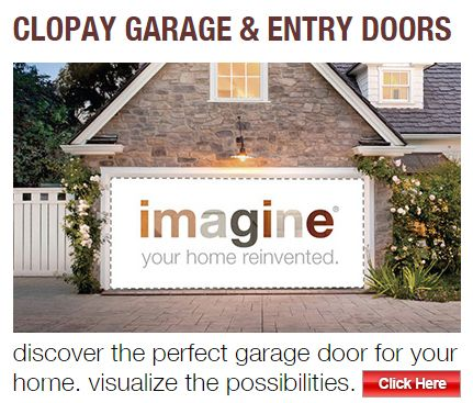Use our Clopay Visualizer Tool to imagine your new garage door.